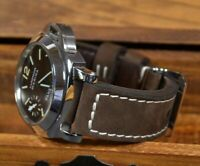 MA WATCH STRAP 26 24 22 MM GENUINE NUBUCK LEATHER FOR PANERAI VINTAGE BROWN II