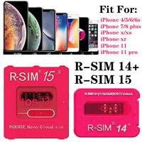 RSIM 14+ R-SIM15 Nano Unlock Turbo Card for iPhone 11 Pro XS Max XR X iOS 13 LOT
