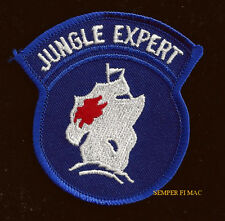 JUNGLE EXPERT SCHOOL HAT PATCH BADGE PIN UP US ARMY VETERAN QUILT GIFT SAIL SHIP