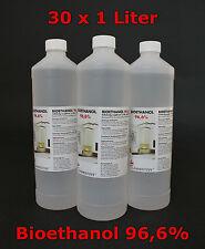 30 x 1 Liter Bioethanol 96,6% in PE Flaschen, Bio-Ethanol, Bio-Alkohol