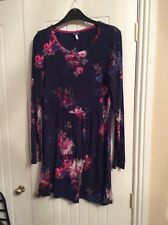 Beautiful Joules Navy Floral Jersey Dress Size 10
