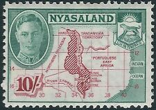 g300) Nyasaland. 1945. MM. SG 157 £1 Scarlet & black. Royalty. c£29++