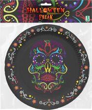 6 Assiettes Noires Carton Crane Décoration de table Halloween