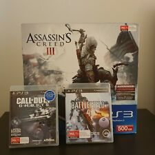 FACTORY SEALED ASSASIN'S CREED 3 500GB PAL PLAYSTATION 3 BUNDLE