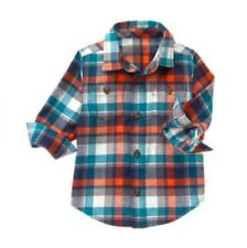 Gymboree Mountain Trail Nwt Boys Button Down Plaid Flannel Shirt Size S 5 6