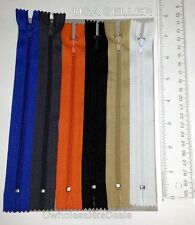 Zippers 7 Inches Pack of 5 Assorted Colors Closed End All Purpose Nylon NEW