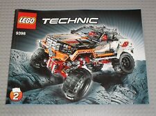 Notice Building instruction booklet N°2 LEGO TECHNIC  4x4 Crawler set 9398