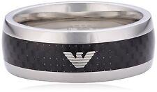 Emporio Armani EGS1602040 Men's Ring Stainless Steel U