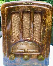 Emerson 1937 GREEN #AU-190 Catalin Bakelite vacuum tube tombstone radio- WORKS