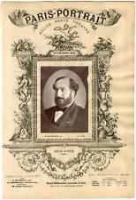 Lemercier, Paris-Portrait, Guillaume-Victor-Émile Augier (1820-1889), auteur dra