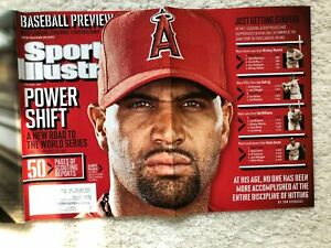Sports Illustrated Albert Pujols Baseball Issue 2012 Pitching To Mickey Mantle