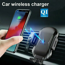 Automatic Clamping Qi Wireless Car Charger Charging Mount Air Vent Phone Holder