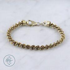 "Sterling Silver   6mm Gold Plate Sparkle Chain 15.6g   Bracelet (7.75"") NA0963"