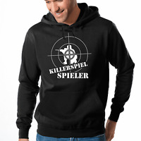 Killerspiel Spieler Geek Gamer Nerd Shooter Fun Kapuzenpullover Hoodie Sweater