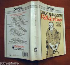 VISTI DA VICINO GIULIO ANDREOTTI 1° EDIZIONE superBUR 1986 Biblioteca Rizzoli