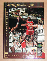 Michael Jordan 1994 UD Collector Choice 1986 63 POINT GAME GOLD SIGNATURE CARD