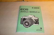 France Bedienungsanleitung - Beschreibung Kamera Canon EOS 500 mit 66 Seiten !