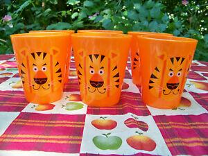 6 Jungle Animal Juice Glasses Tumblers - Kids, Children