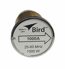 Bird 1000A Thruline WattMeter Element 1000W 25-60 MHz, GENUINE BIRD