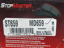 BRAND NEW STOP MASTER BRAKE PADS MD659 / D659 FITS VEHICLES LISTED ON CHART