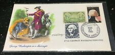 1732-1982 COVER-PRESIDENT WASHINGTON STAMPS ON KMC VENTURE PAINT CACHET LTD 400
