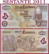 ZAMBIA  -   500 KWACHA  2011 -  POLYMER - Sign 12   -   P 43h  -  FDS  / UNC