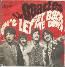 DISQUE VINYLE - 45 Tours - The Beatles - Get back - Don't let me down - MIC