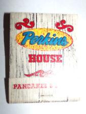 Vtg 1960s PERKINS HOUSE Pancakes & Steaks Restaurant Matchbook