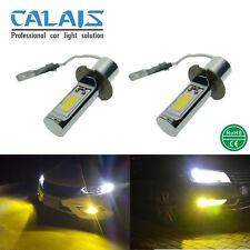 Car LED H3 Fog Light Gold Yellow 24W 12V 24V COB Automotive Foglamp DRL 2X Bulbs