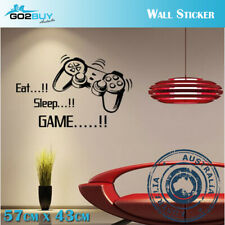 Wall Stickers Removable Gamepad Eat Sleep GAME Living Room Decal Art Decor Funny
