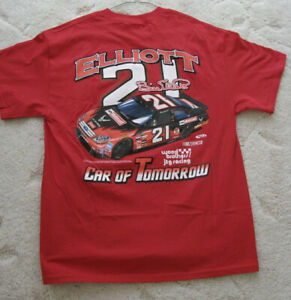VTG Collectible Racing Cars T-Shirt-Bill Elliot-Wood Brothers JTG Racing
