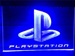 Playstation LED Neon Sign Home Light Up Pub Mancave PS5 PS4 Game Room Arcade Led
