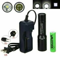 Portable Zoom Scuba Diving Flashlight 5000LM T6 LED Fishing Torch Lamp 50m
