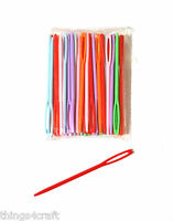 PLASTIC SEWING NEEDLES 7cm NEEDLES SEWING CROSS STITCH CHILDRENS NEEDLES