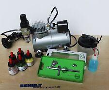 Airbrushkomplettset mit Kolbenkompressor und Iwata Neo