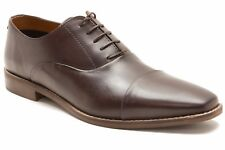 Mens Red Tape Stanton Brown Real Leather Lace up Wedding Formal Oxford Shoes UK 8
