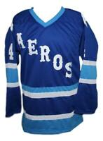 Any Name Number Retro Custom Hockey Jersey Mark Howe Blue