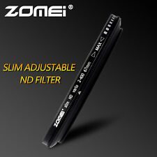 ZOMEI 62mm ND2-400 Fader Adjustable Variable Filter for Camera lenses UK Seller