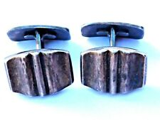 Manschettenknöpfe 830 Silber 17 x 12 mm Herren antik 1900 Handarbeit