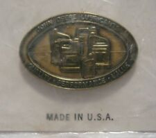 * John Deere Lubricants Hat Lapel Pin Badge Collectible Tractor Combine Crawler