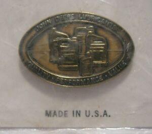 *John Deere Lubricants Advertising Hat Lapel Pin Badge Collectible Tractor Baler