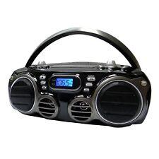 Sylvania Srcd682Bt Portable Bluetooth Cd Radio BoomBox with Am/fm Radio (Black)