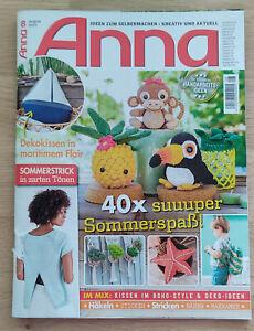Magazin Zeitschrift Handarbeit Nähen Stricken Häkeln Sticken Anna August 2021