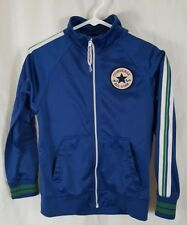 Converse All Star Kids Full Zip Track Jacket Blue Sz M (10-12) Chuck Taylor