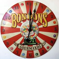 HORLOGE rétro vintage BONBONS GOURMANDS - 34 CM