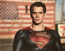 Hand Signed 8x10 photo HENRY CAVILL BATMAN v SUPERMAN - Clark Kent + my COA