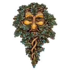 Green Man Wall Hanging Plaque With Blue Highlights 275327