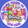 Personalised Shopkins Birthday Stickers Party Bag Thank You - 004