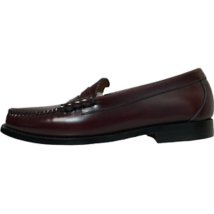 G.H. Bass Mens Weejuns Larson Penny Loafers Burgundy Leather Size 8.5E