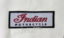 Indian Motorcycle Embroidered Patch, Biker, Iron On or Sew On - RED JUBILEE